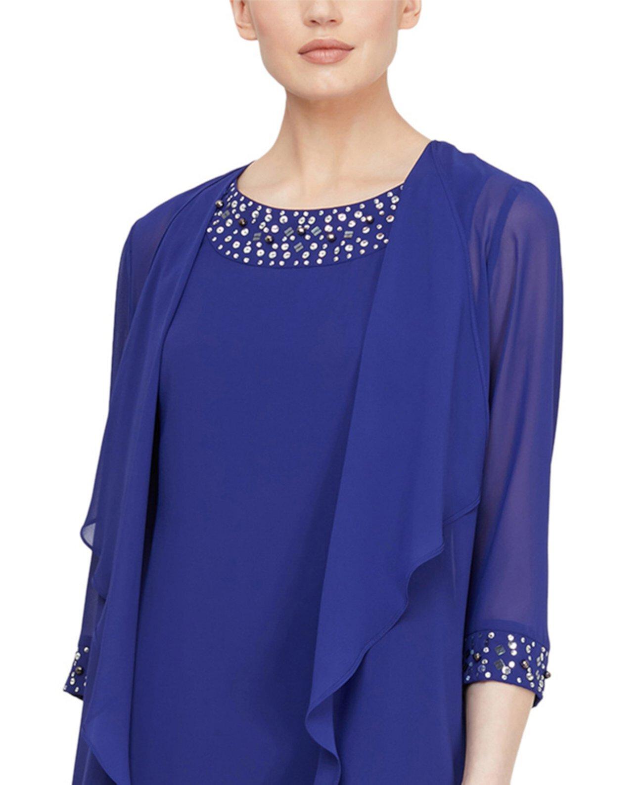 Платье-жакет из бисера SL Fashions