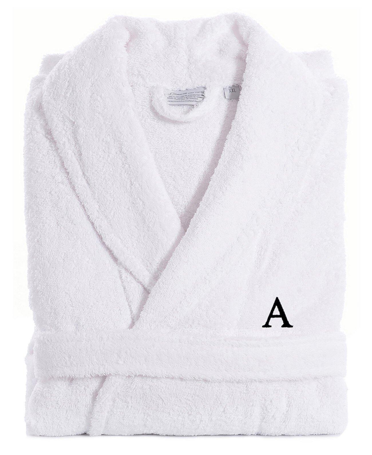 Махровый халат из 100% турецкого хлопка - белый Linum Home