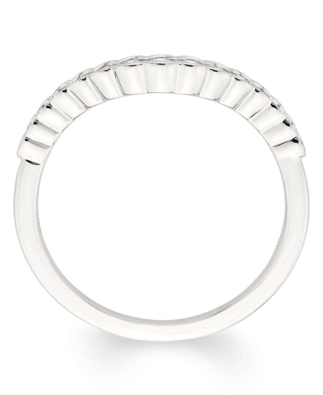 Сертифицированная бриллиантовая (1/4 карат. Вес.) Полоса из белого золота 585 пробы Macy's