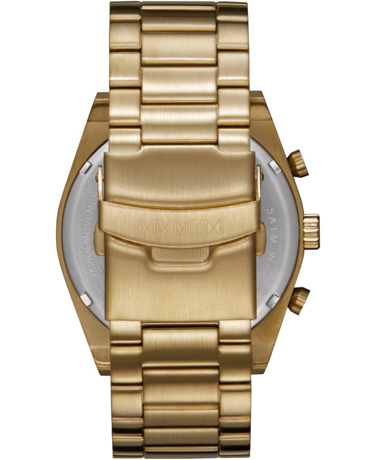 Мужские часы-хронограф из нержавеющей стали с золотыми тонами 44 мм MVMT