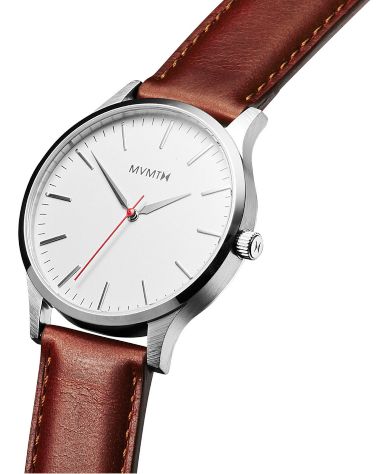 Мужские часы 40-й серии с коричневым кожаным ремешком 40мм MVMT