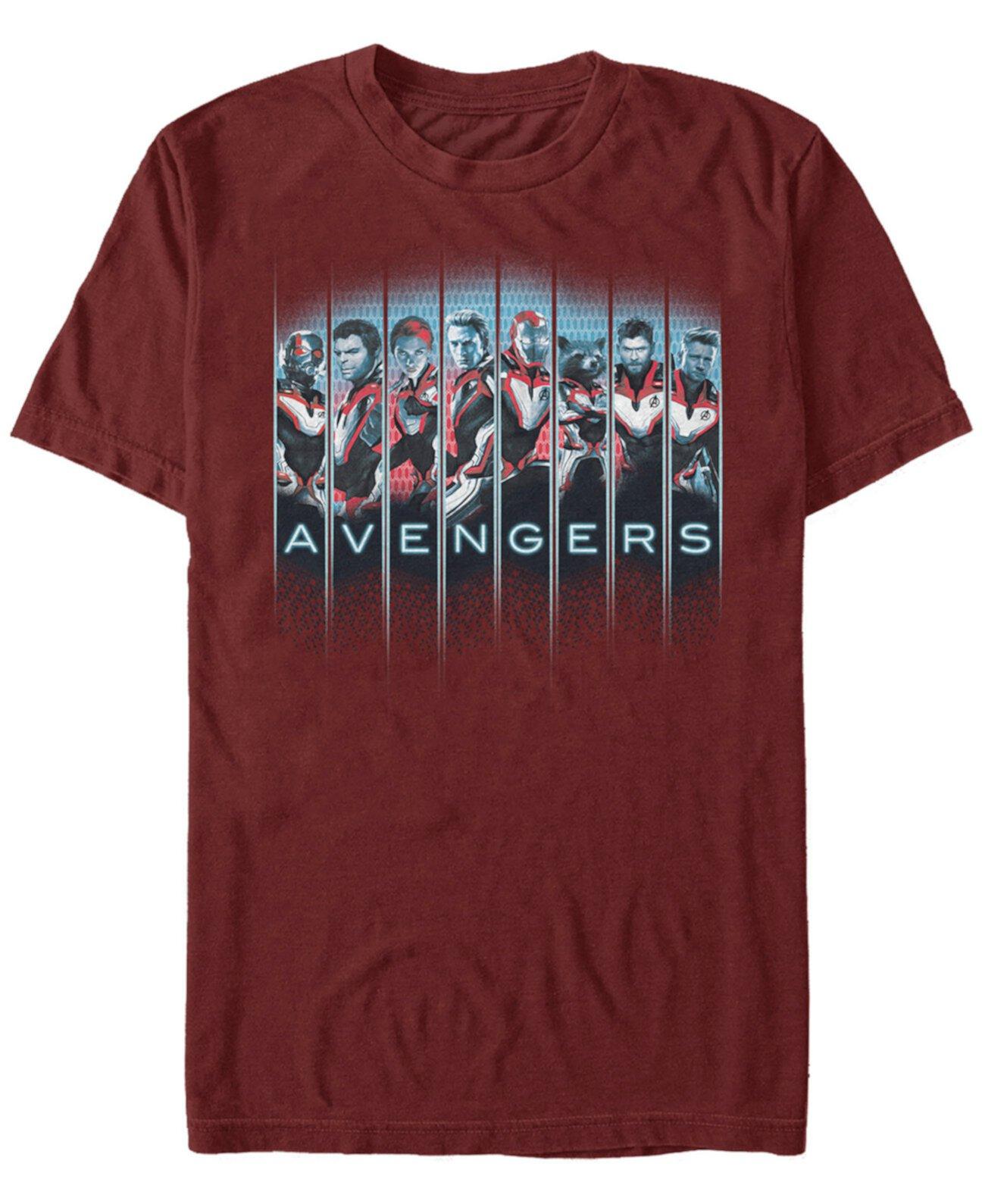 Мужские панно для героев мстителей, футболка с коротким рукавом Marvel