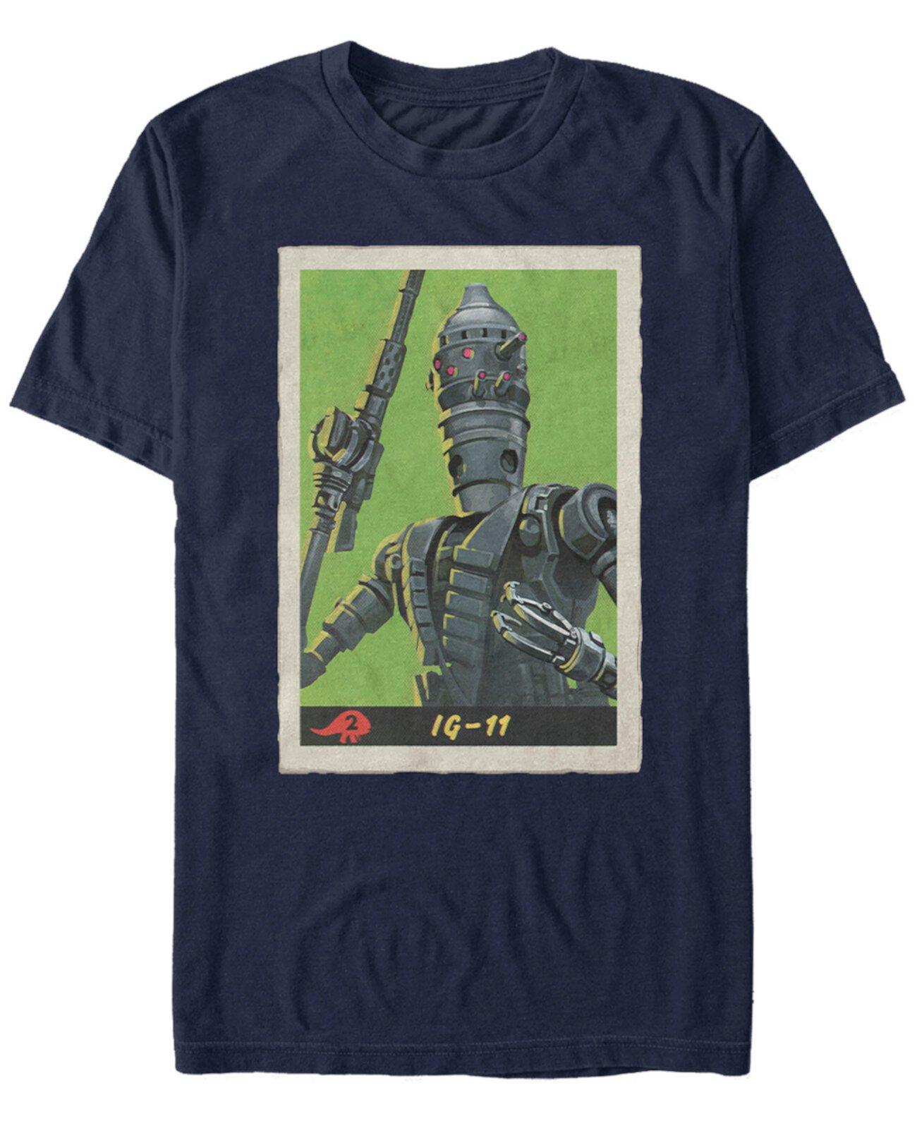 Мужская футболка Mandalorian Retro IG-11 с плакатом Star Wars