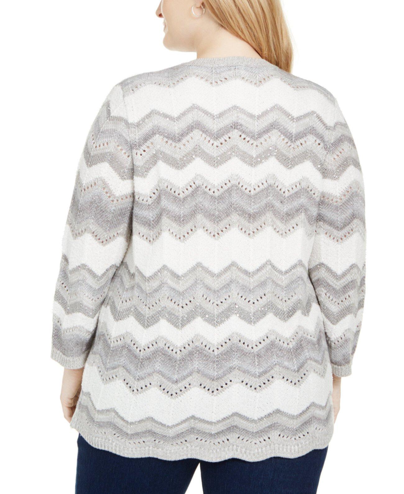 Многоуровневый свитер женской формы Chevron Lake Size Alfred Dunner
