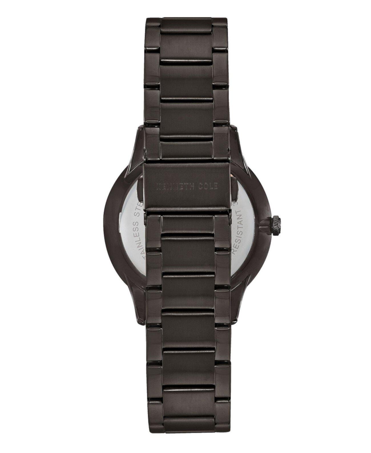 Мужские часы-браслет из нержавеющей стали Gunmetal, 41мм Kenneth Cole New York