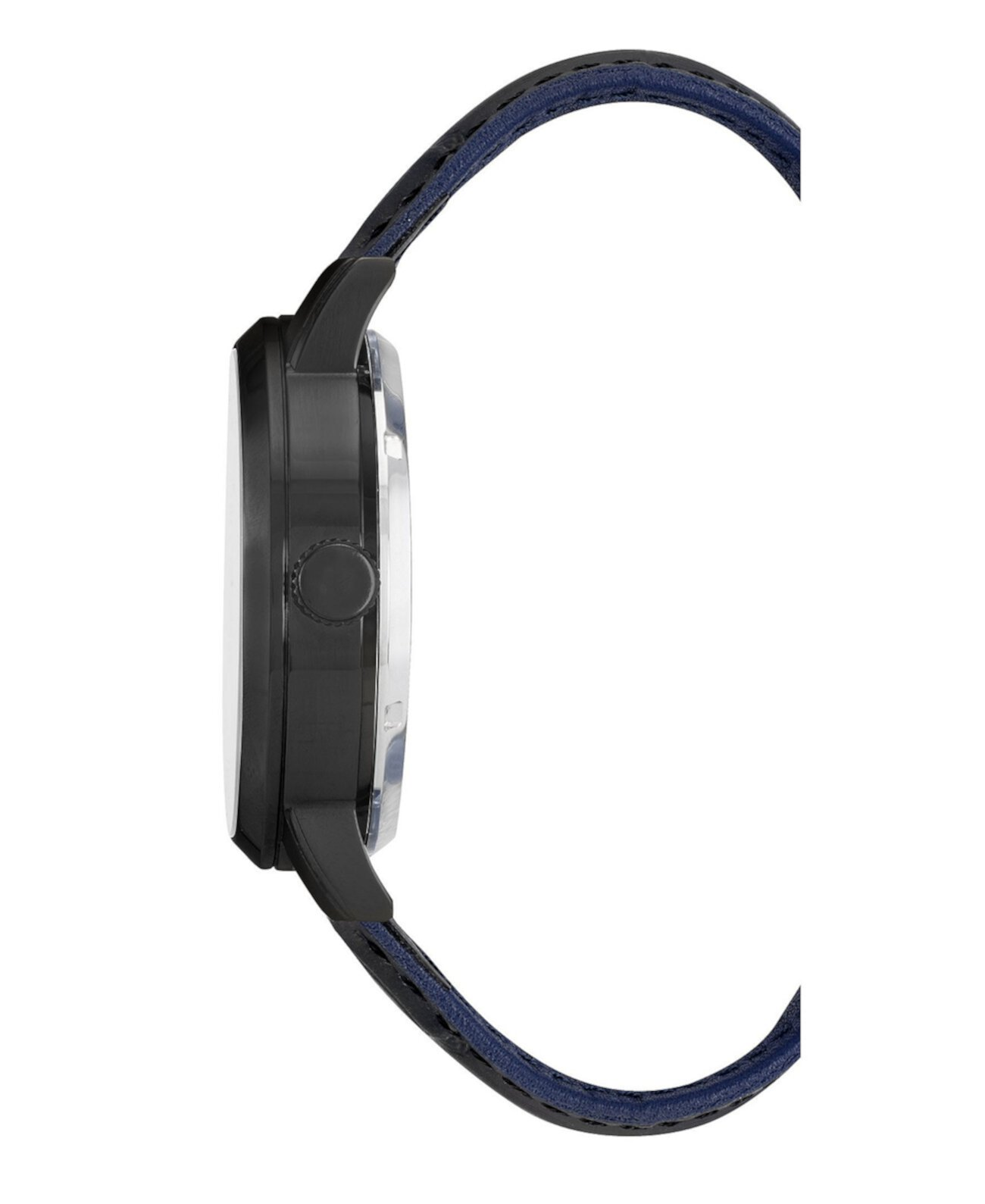 Мужские черные часы с ремешком из натуральной кожи, 46мм Kenneth Cole New York