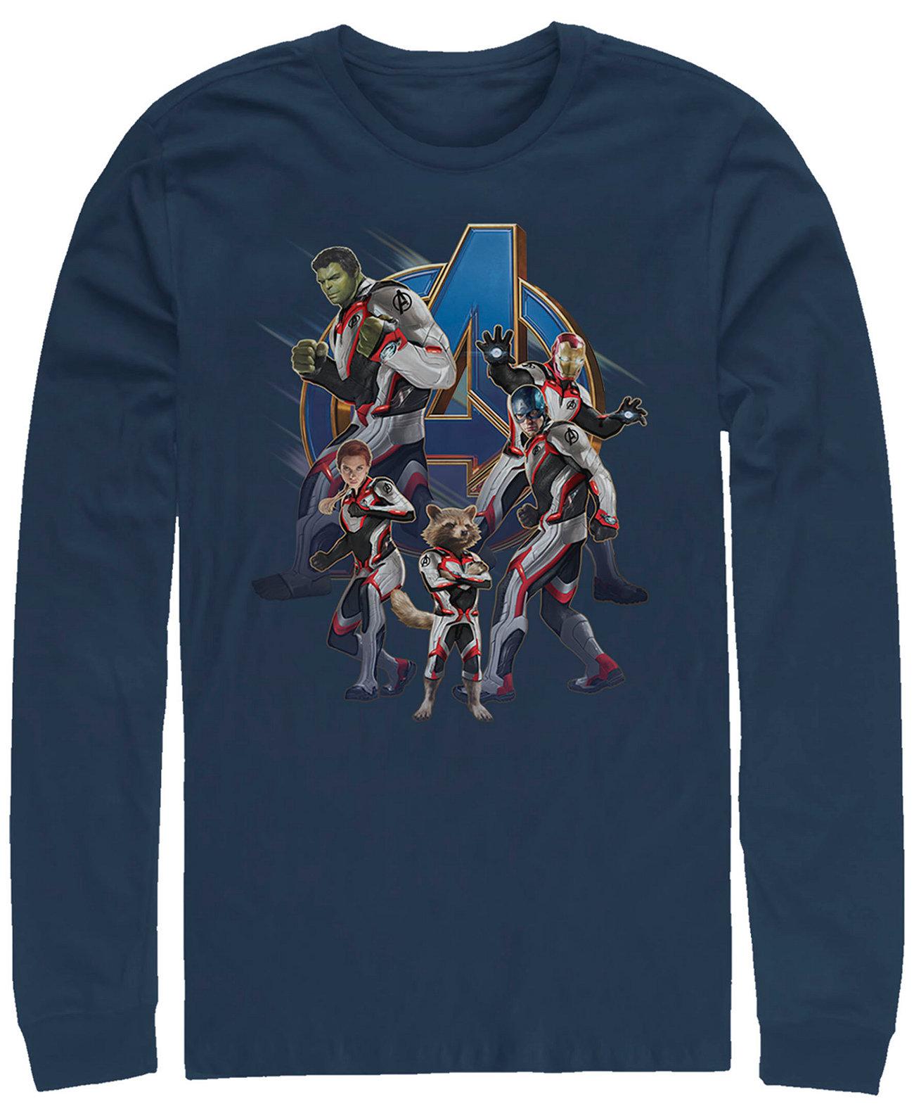 Мужская группа Avengers Endgame Suit, футболка с длинным рукавом Marvel