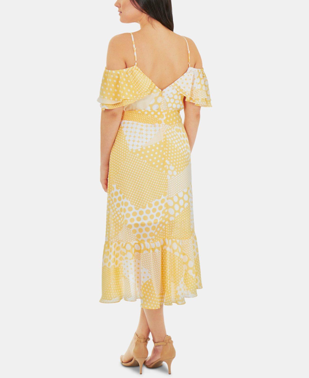 Платье с открытыми плечами и оборками NY Collection