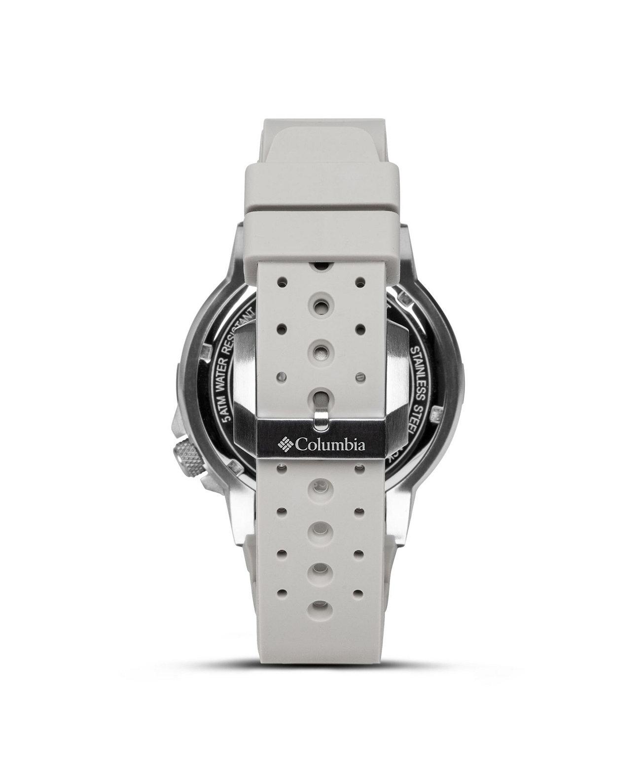 Мужские часы Peak Patrol Серый силиконовый ремешок 42мм Columbia