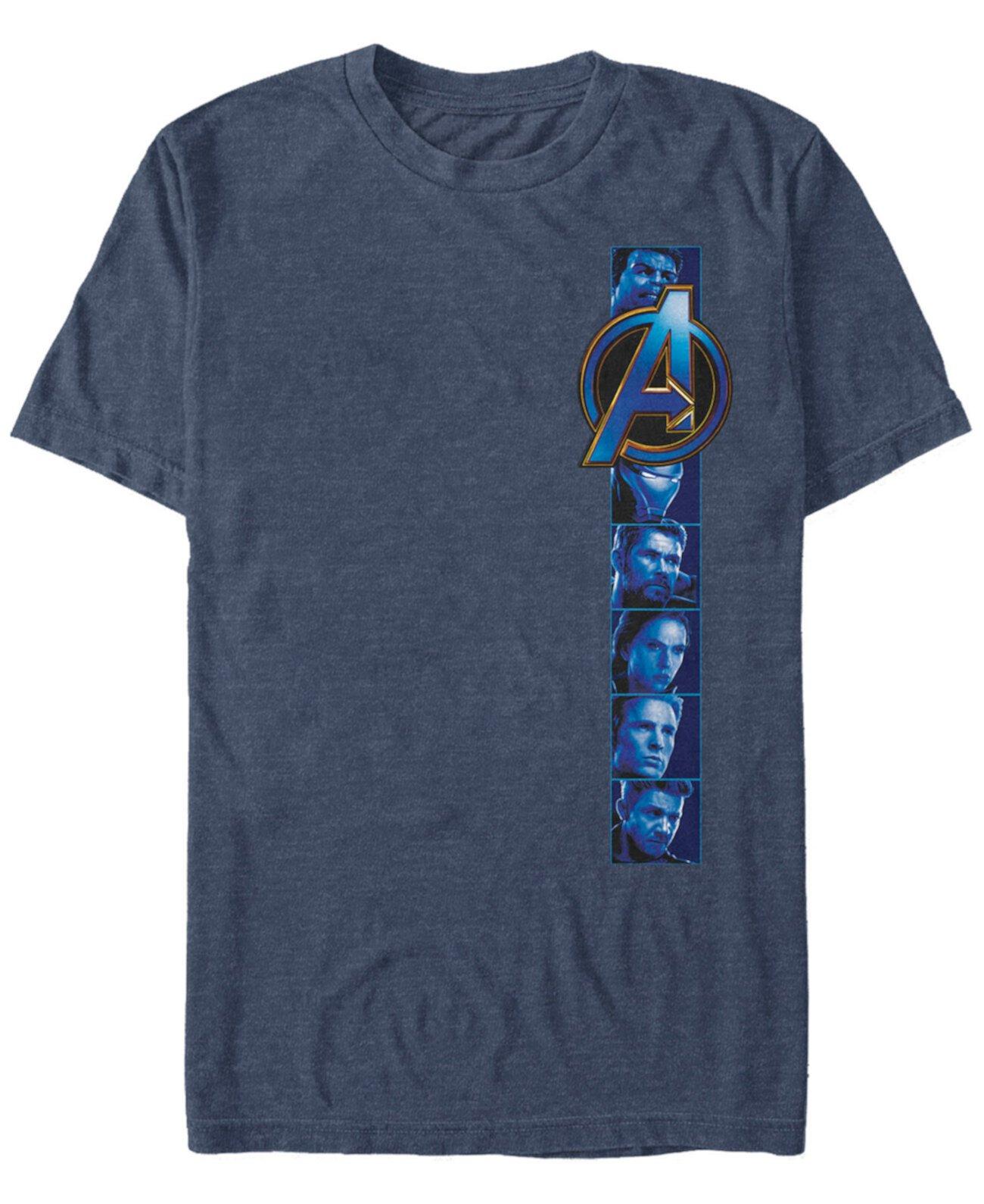 Мужская мститель Endgame Hero Photoreel, футболка с коротким рукавом Marvel
