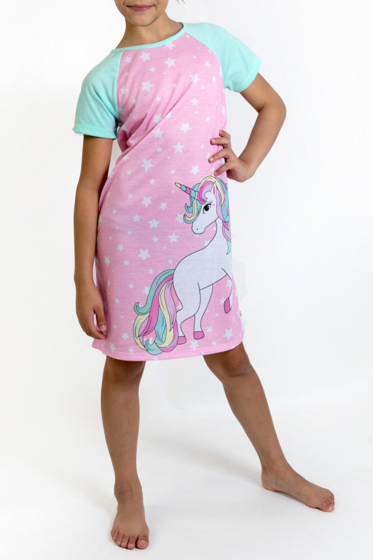 Рубашка для сна Unicorn (большие девочки) Us Angels