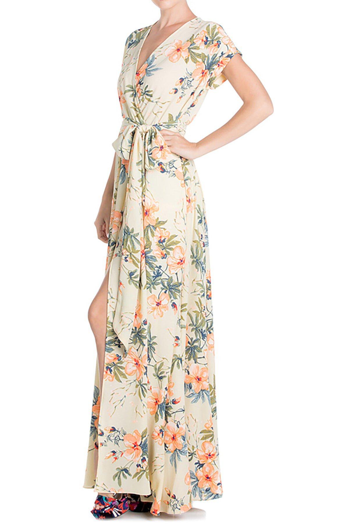 Платье макси с запахом жасмина Meghan LA