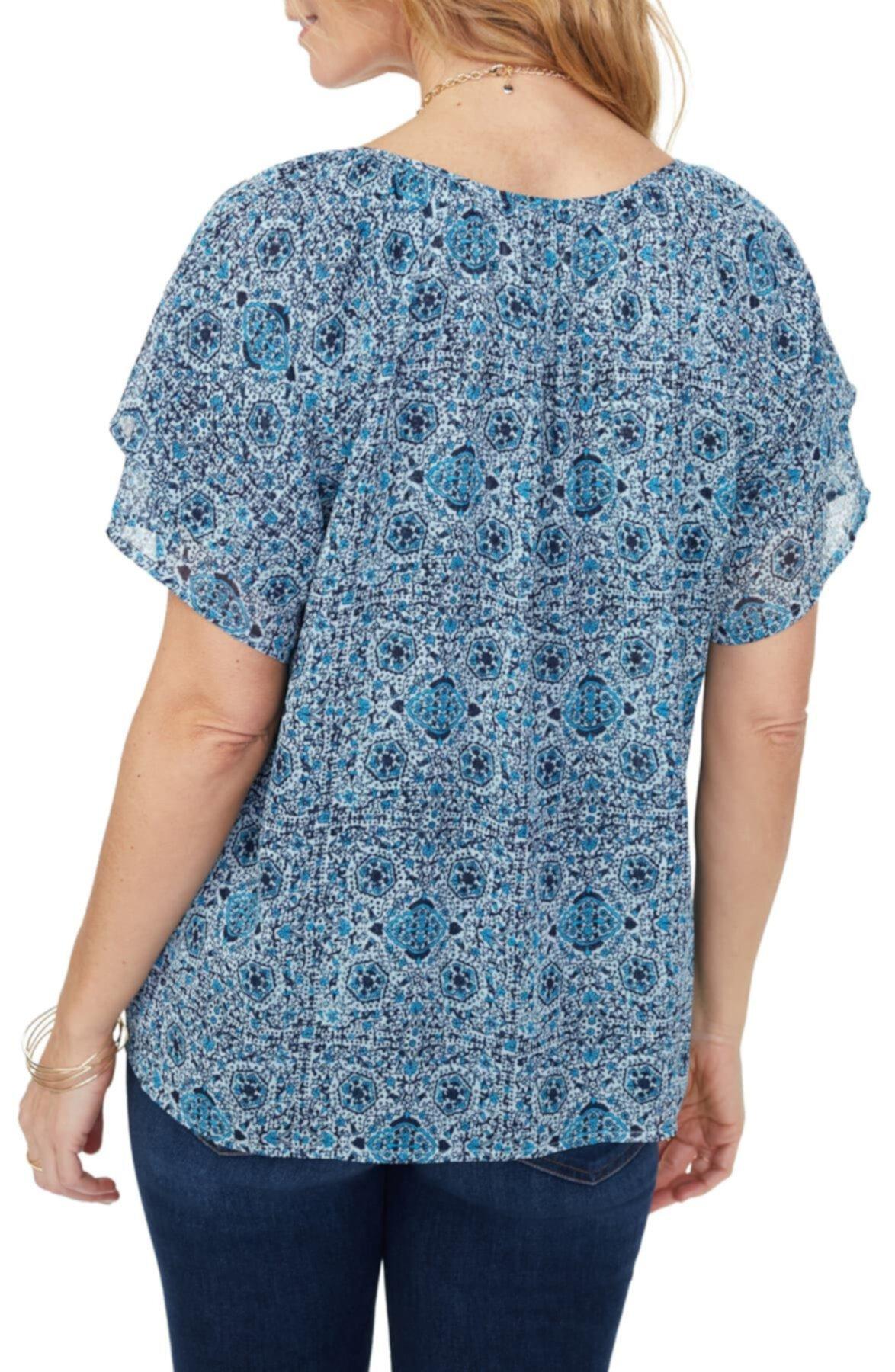 Многослойная крестьянская блузка NYDJ