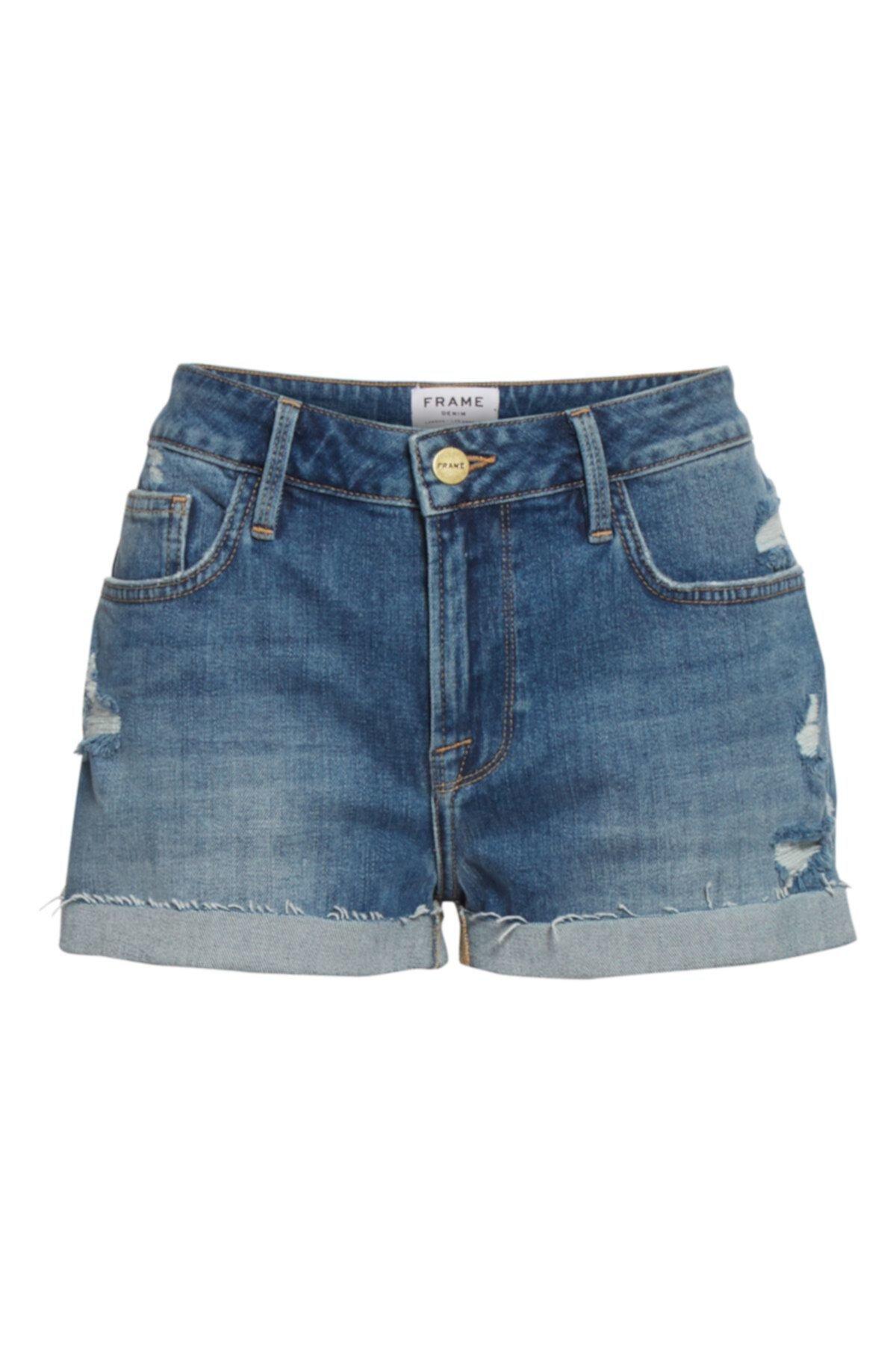 Le Grand Garcon Джинсовые шорты с высокой талией и манжетами FRAME