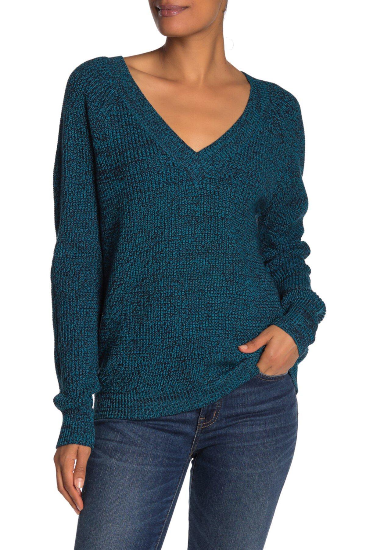 Marled свитер с v-образным вырезом BCBGMAXAZRIA
