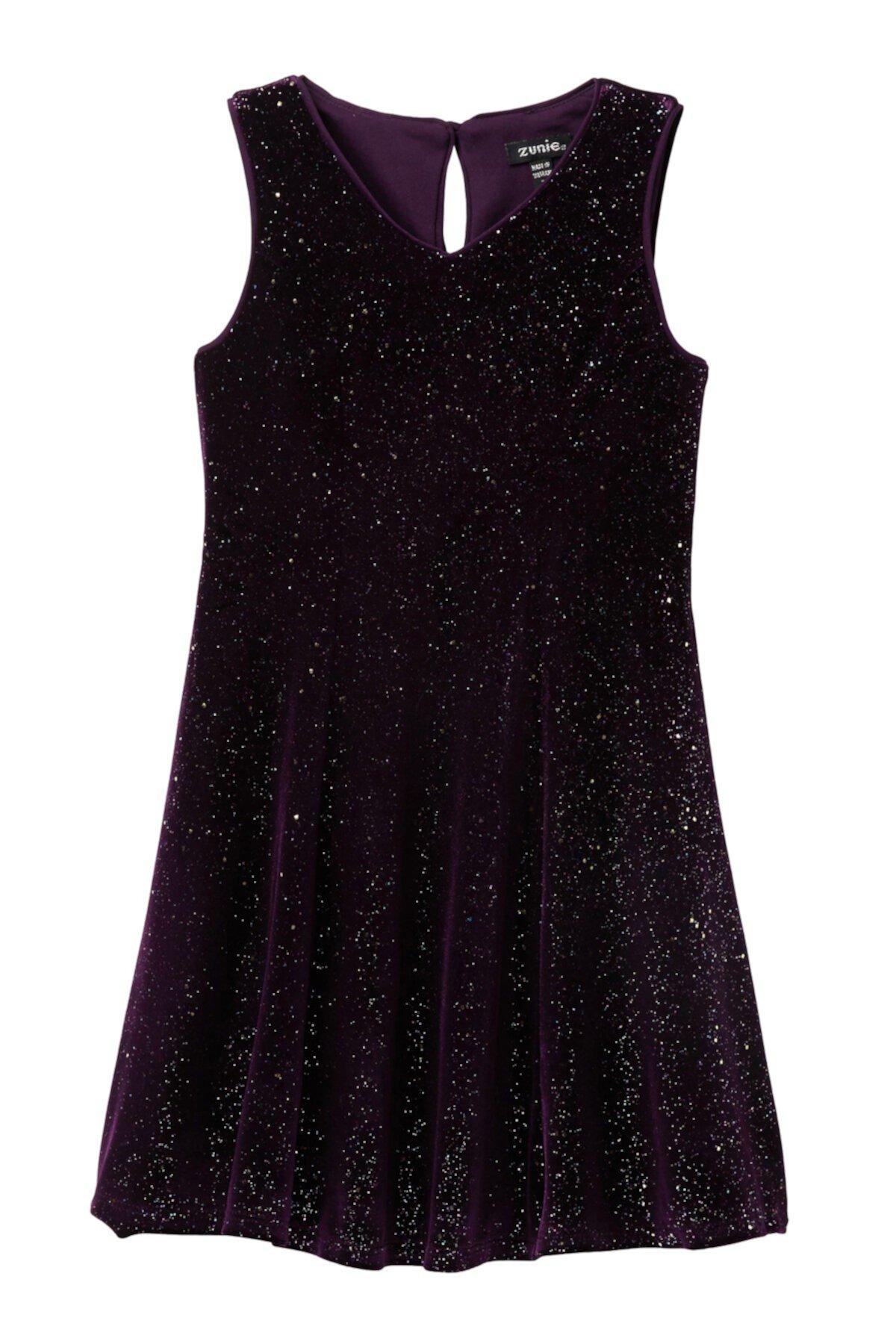 Платье без рукавов с блестками Rainbow Glitter (Большие девочки) Zunie