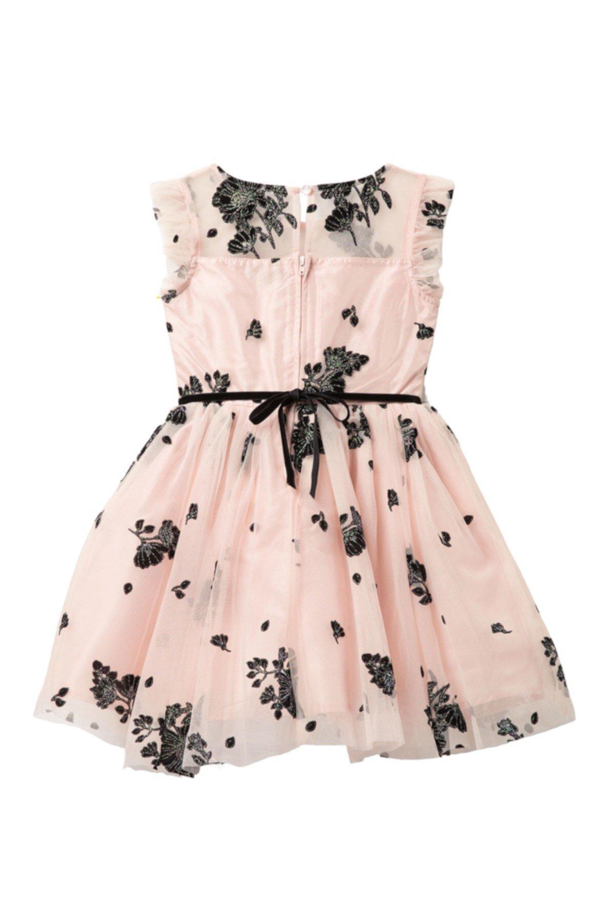 Платье в сеточку с цветами и блестками (Big Girls) Zunie