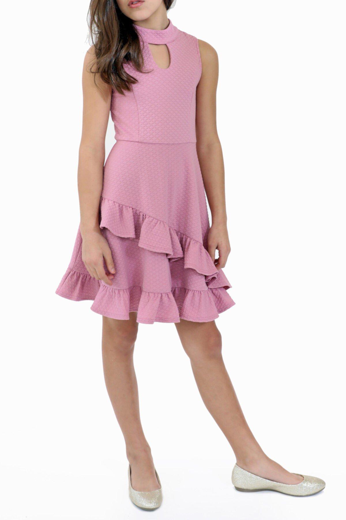 Платье без рукавов с оборками (большие девочки) Blush by Us Angels