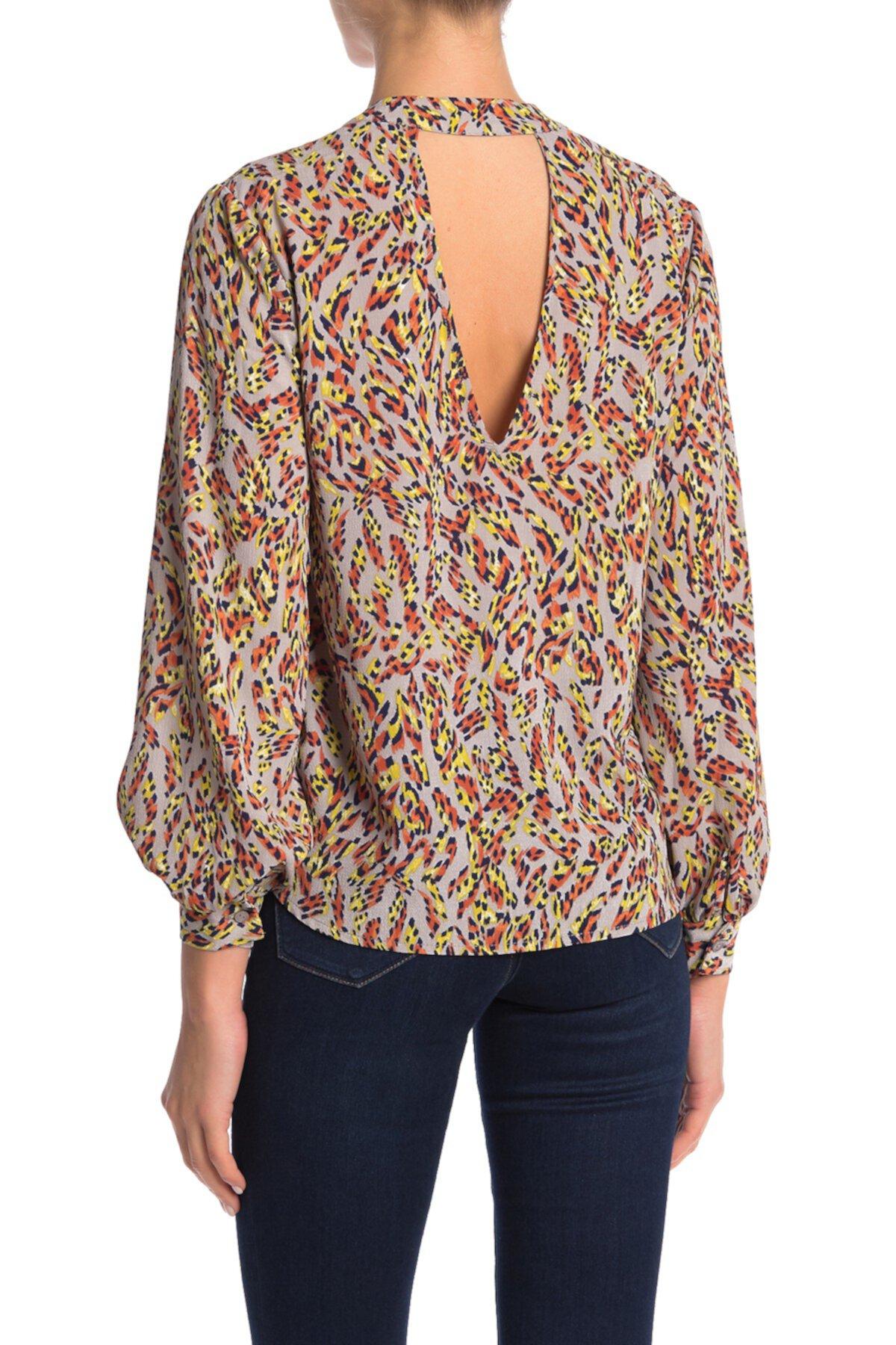 Блузка с длинным рукавом с принтом Lush
